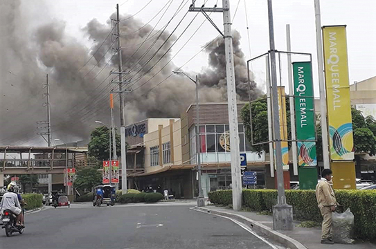 Minor fire' causes mild panic at Marquee Mall , Punto