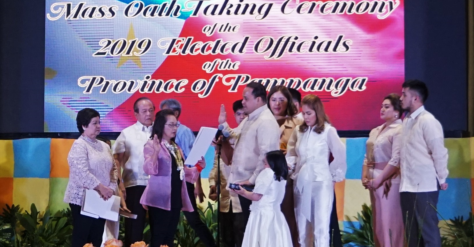 GMA administers oath to Pampanga officials Delta to continue